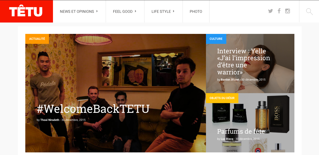 Têtu is back avec un hashtag : #WelcomeBackTETU